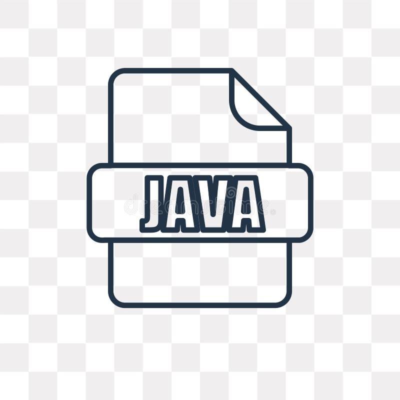 Java vektorsymbol som isoleras på genomskinlig bakgrund, linjära Java royaltyfri illustrationer