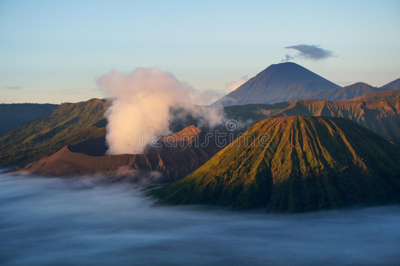 Java Volcano, Indonesia - Mount Bromo. Java Volcano, Indonesia, at sunrise - Mount Bromo stock photos