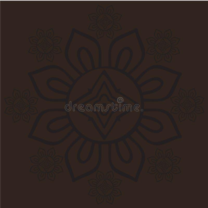 Javanese Batik-nahtloser Mustervektor stock abbildung