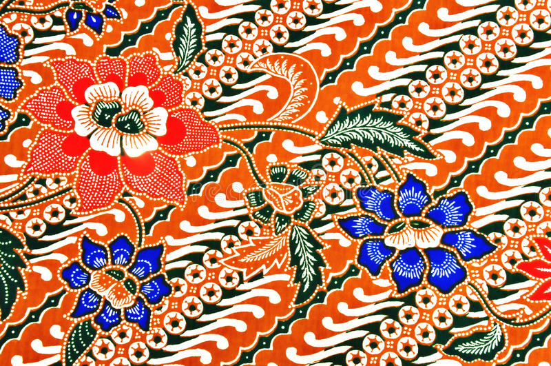 Javanese batik pattern royalty free stock photo