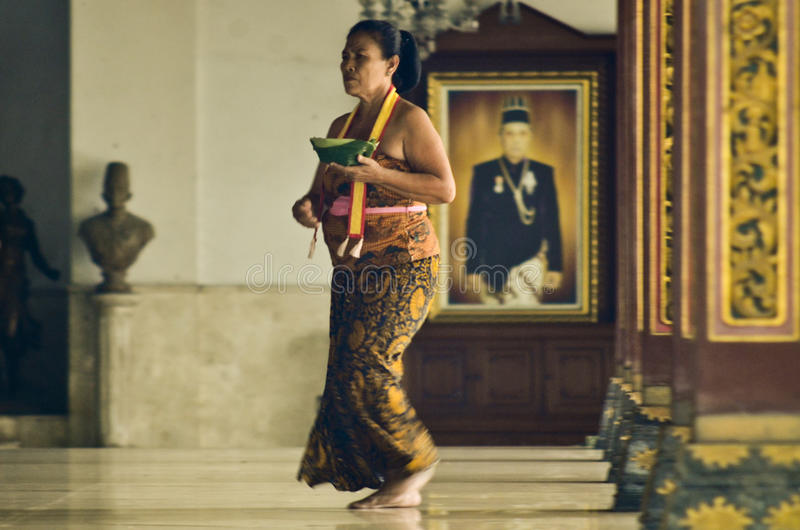 JAVANESE DANCERS. Royal maiden of Surakarta Royal Palace, seat of Surakarta Kingdom, Solo, Java, Indonesia. The kingdom ceased to exist as a state when King royalty free stock photos