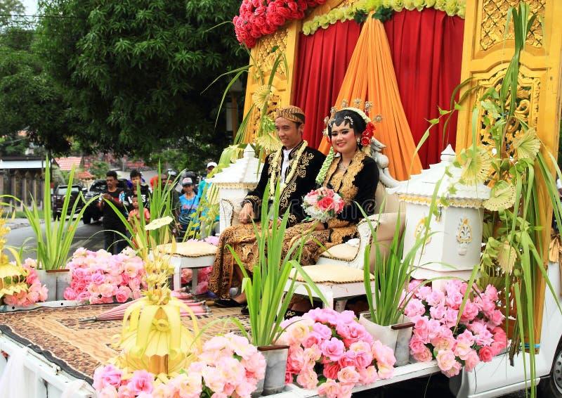 Javanese Hochzeit von Java Tengah in der Parade lizenzfreies stockbild