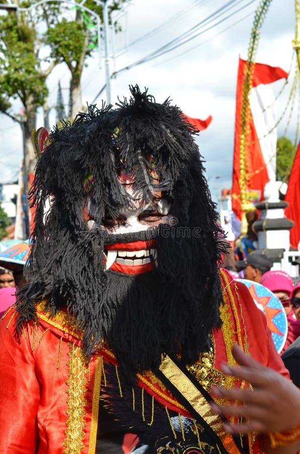 Javanese konster och kultur st?tar i Batang royaltyfri foto