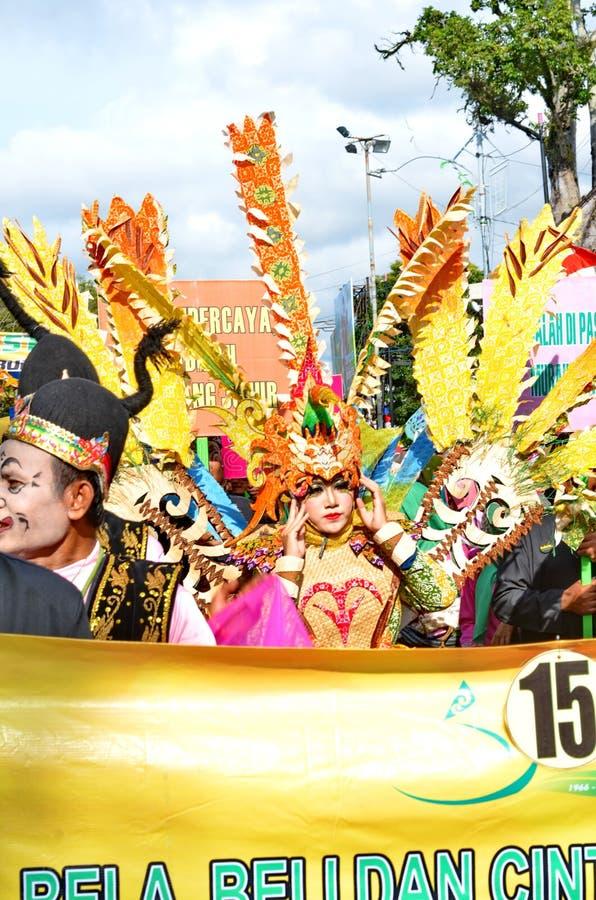 Javanese konster och kultur st?tar i Batang fotografering för bildbyråer