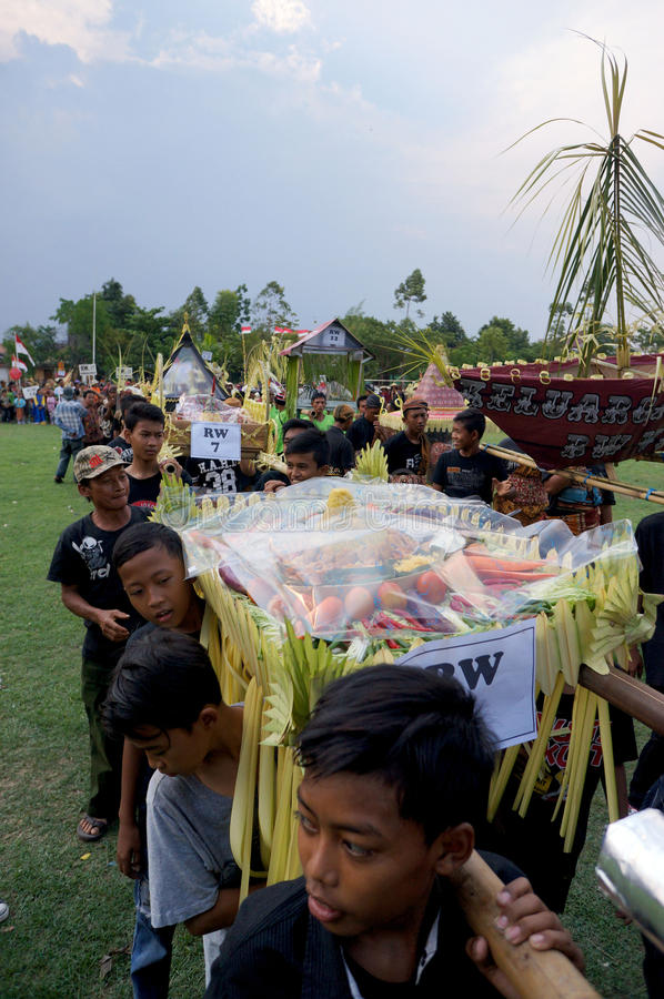 Javanese rituele ceremonie royalty-vrije stock foto's