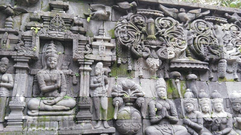 Javanese stone sculpture royalty free stock photo