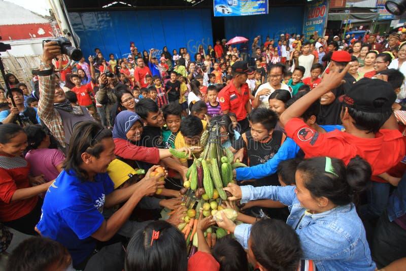 Javanese traditionele ceremonie stock foto's