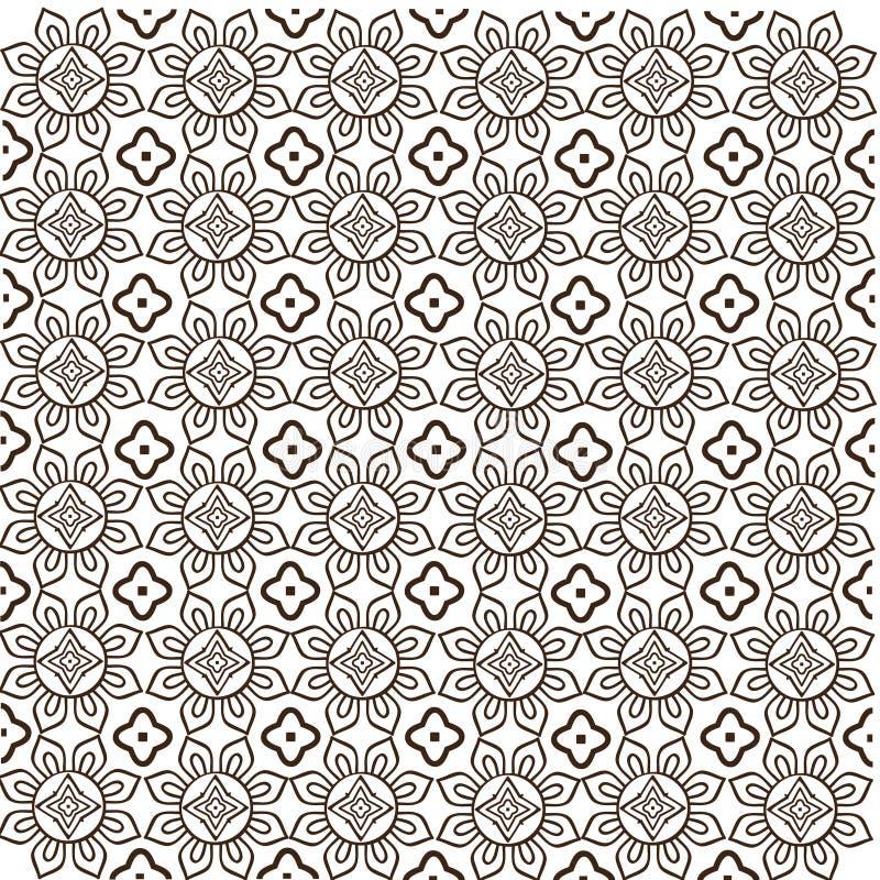 Javanese vector van het Batik Naadloze Patroon royalty-vrije stock afbeeldingen