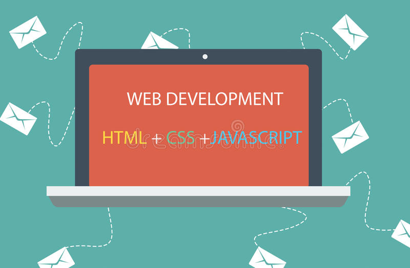 Javascript do HTML CSS ilustração stock