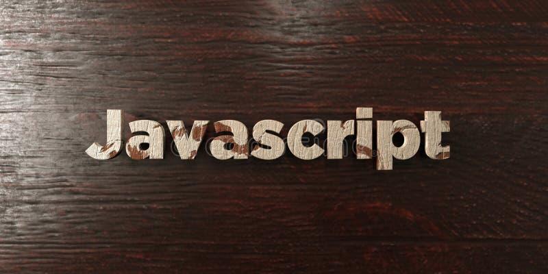 JavaScript - grungy drewniany nagłówek na klonie - 3D odpłacający się królewskość bezpłatny akcyjny wizerunek royalty ilustracja