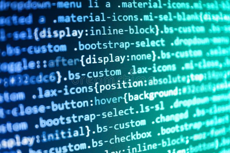 Javascriptcode in steunsoftware Zoekmachineoptimalisering voor beter het rangschikken met ankermarkeringen royalty-vrije stock afbeelding
