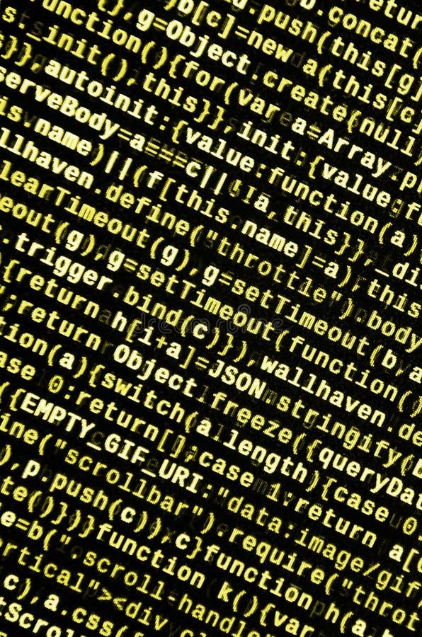 Javascriptfunktionen, Variablen, Gegenstände Überwachen Sie Nahaufnahme des Funktionsquellcodes IT-Fachmann-Arbeitsplatz stockfoto