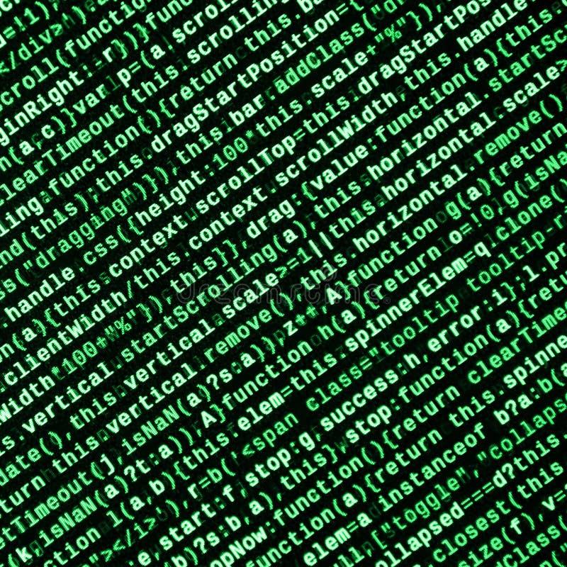 Javascriptfunktionen, Variablen, Gegenstände Überwachen Sie Nahaufnahme des Funktionsquellcodes IT-Fachmann-Arbeitsplatz stock abbildung