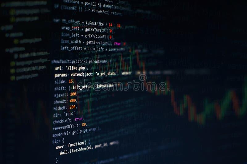 Javascriptfunktionen, Variablen, Gegenst?nde Projektleiter bearbeiten neue Idee Zuk?nftiger Technologieschaffungsproze? lizenzfreie stockfotos