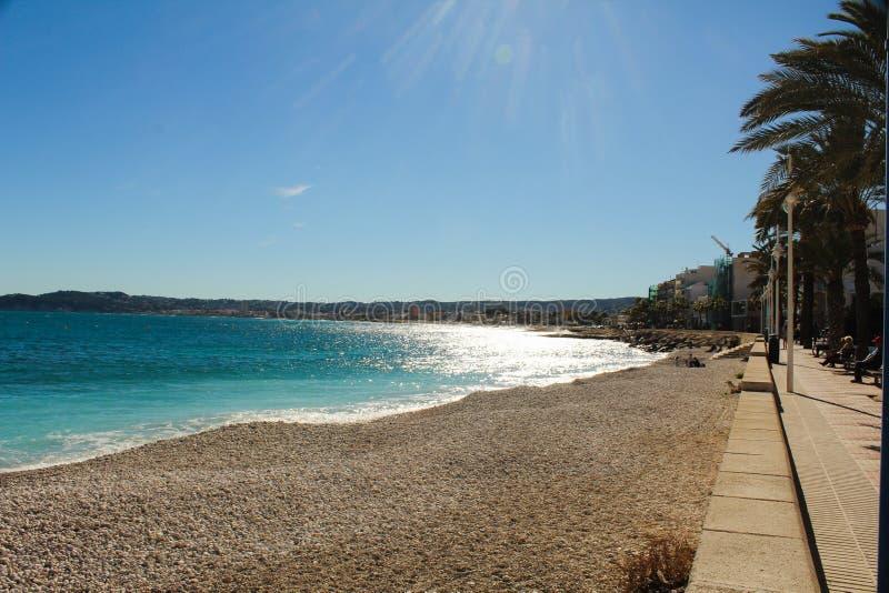 Javea海滩肋前缘布朗卡西班牙 图库摄影