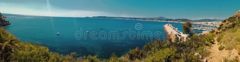 Javea风景在西班牙 库存图片