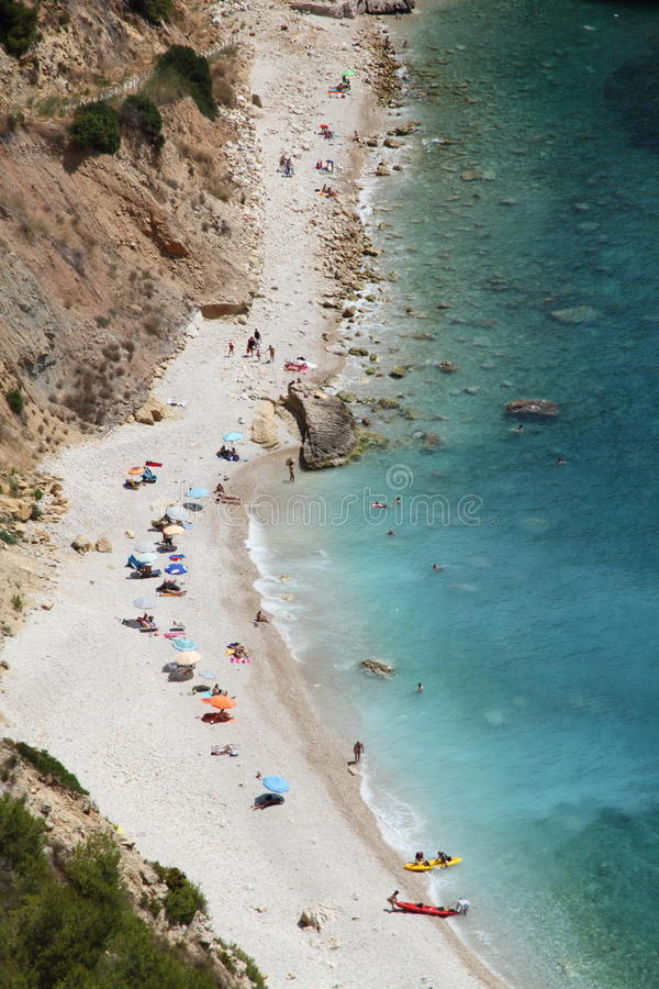 javea Ισπανία παραλιών ambolo στοκ φωτογραφία με δικαίωμα ελεύθερης χρήσης