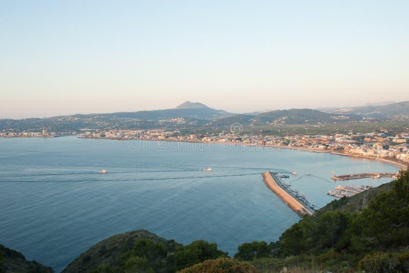 Download Javea bay stock image. Image of coast, town, boats, fishing - 24762505