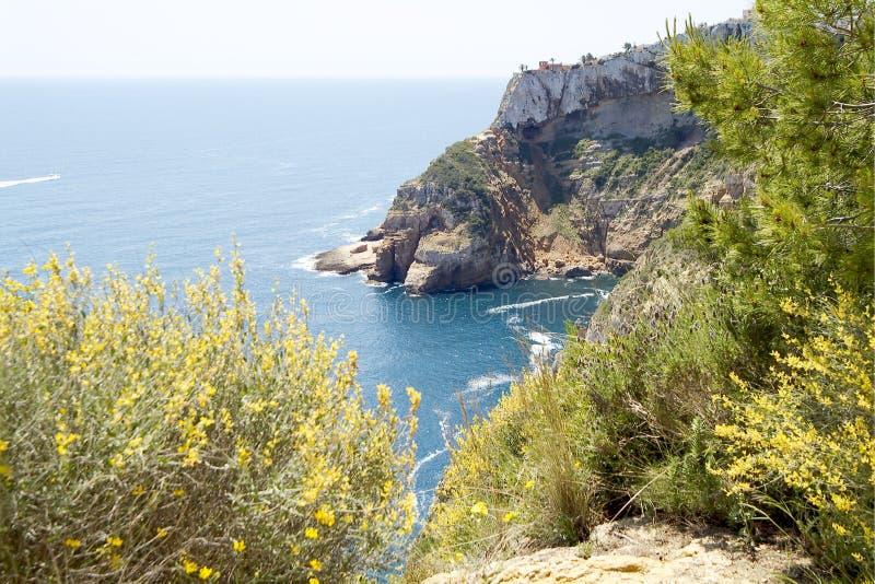 Javea, Costa Blanca. Alicante, Spanje stock foto's