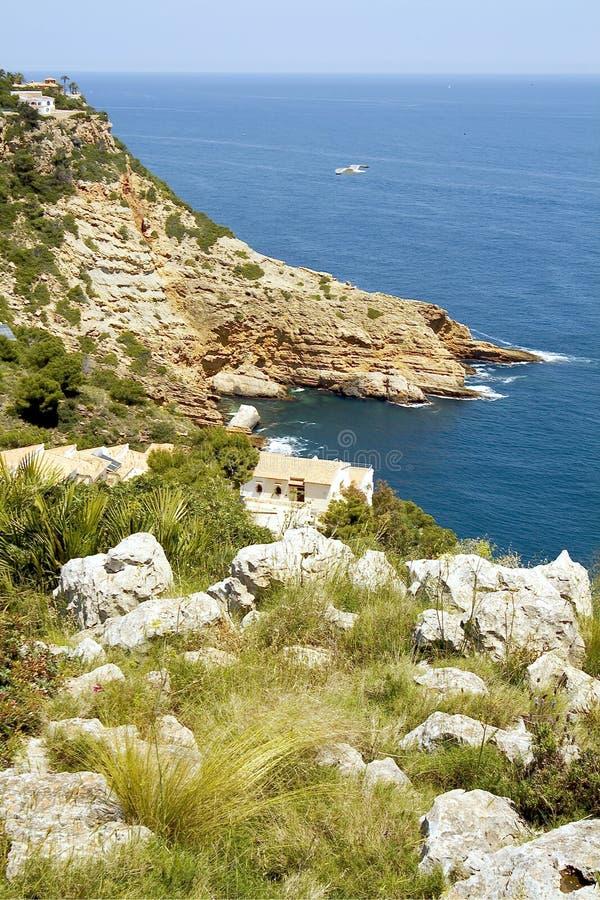 Javea, Costa Blanca. Alicante, Spanje stock fotografie