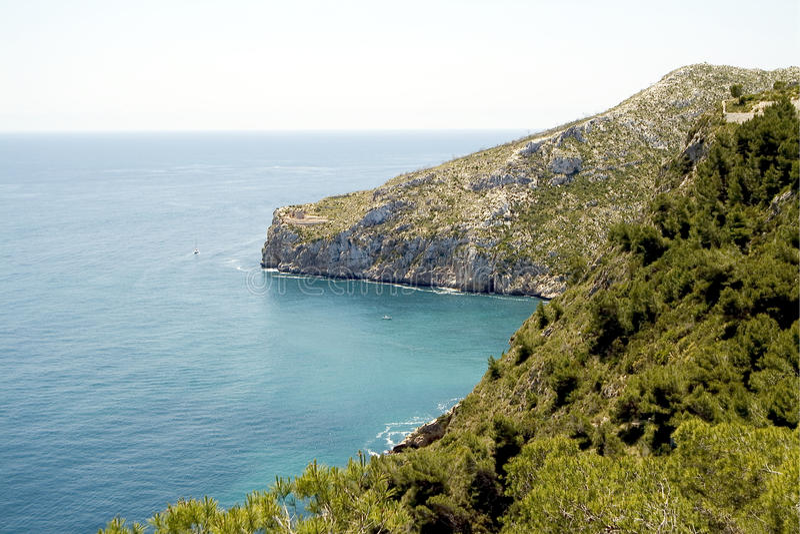 Javea, Costa Blanca. Alicante, Spanje stock foto