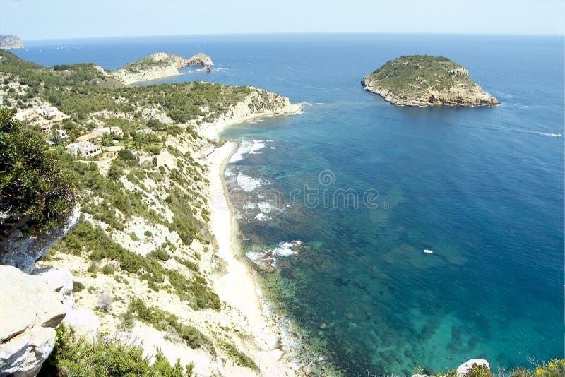 Javea - de provincie Spanje van Alicante royalty-vrije stock afbeeldingen