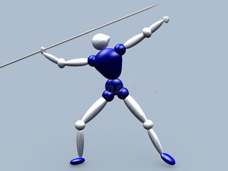Javelin Thrower vector illustration