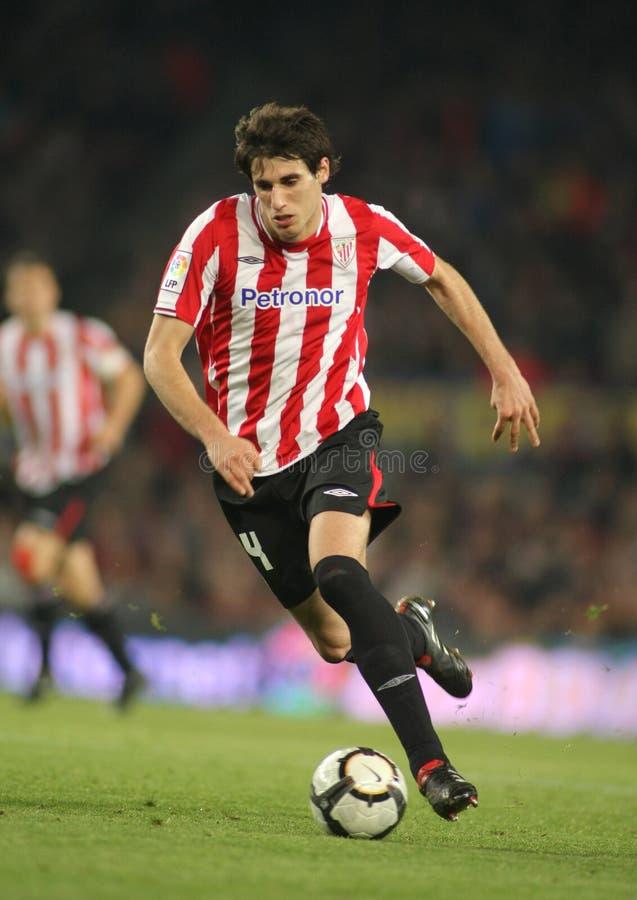 Javi Martinez van Atletisch Bilbao stock afbeelding