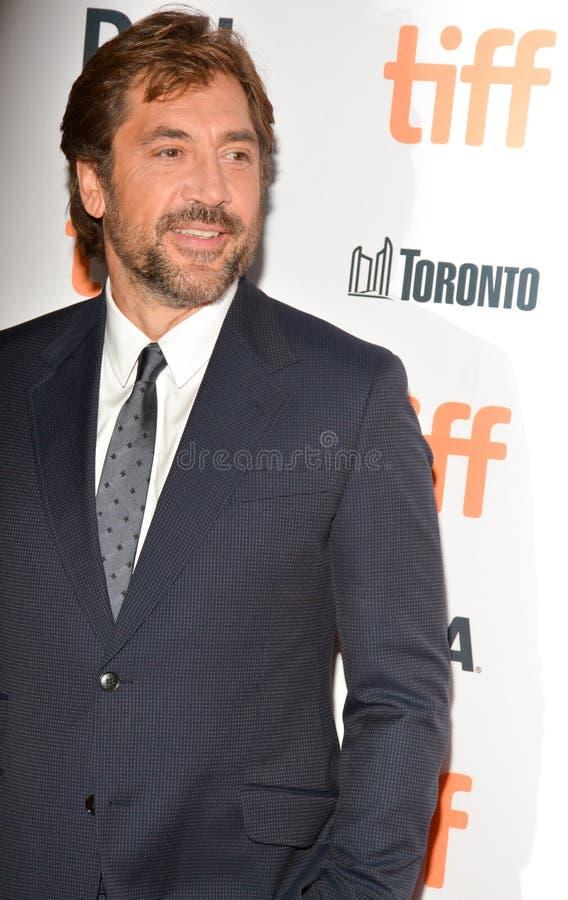 Javier Bardem bij `-moeder! ` première tijdens het Internationale de Filmfestival van Toronto van 2017 bij Prinses van het Theate stock afbeeldingen