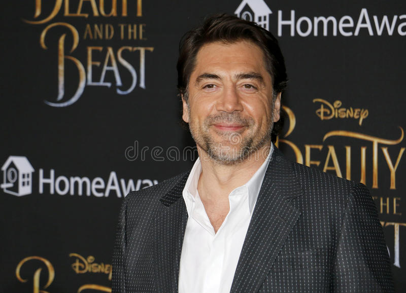 Javier Bardem. At the Los Angeles premiere of `Beauty And The Beast` held at the El Capitan Theatre in Hollywood, USA on March 2, 2017 royalty free stock images