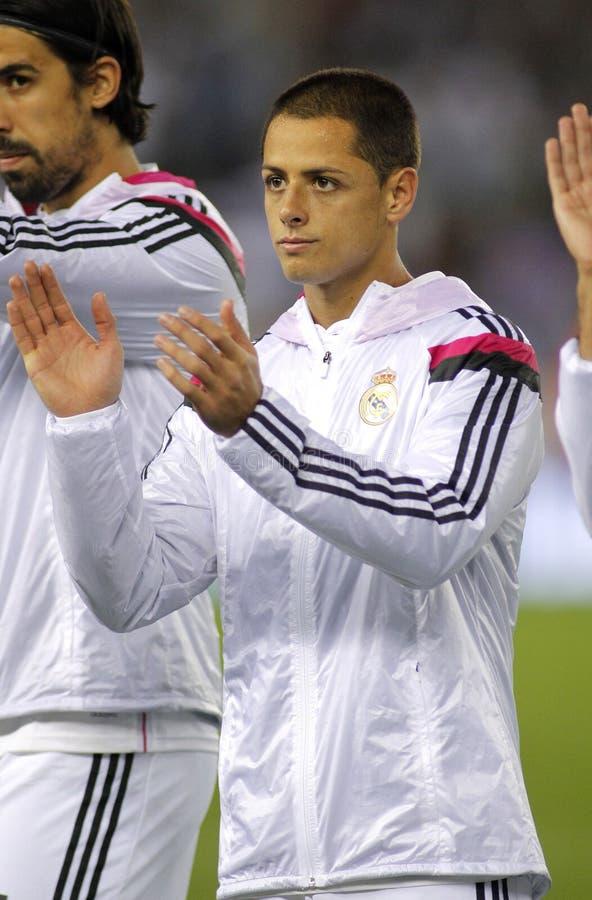 Javier Chicharito Hernandez von Real Madrid lizenzfreie stockfotografie