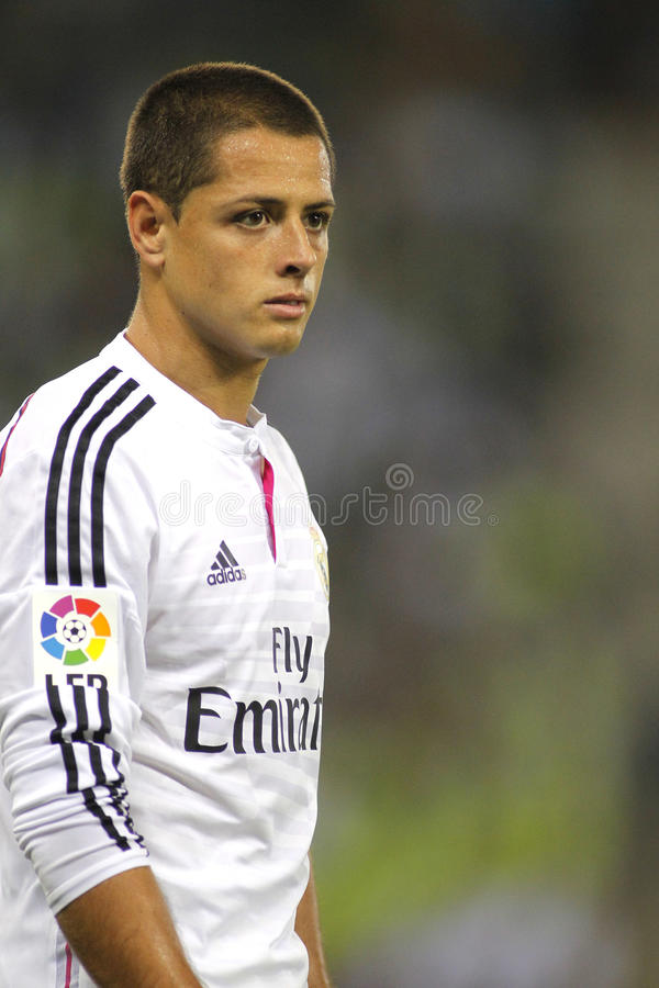 Javier Chicharito Hernandez von Real Madrid stockfotos