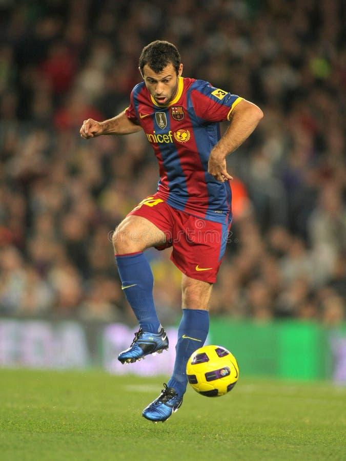 Javier Mascherano de FC Barcelone photographie stock libre de droits