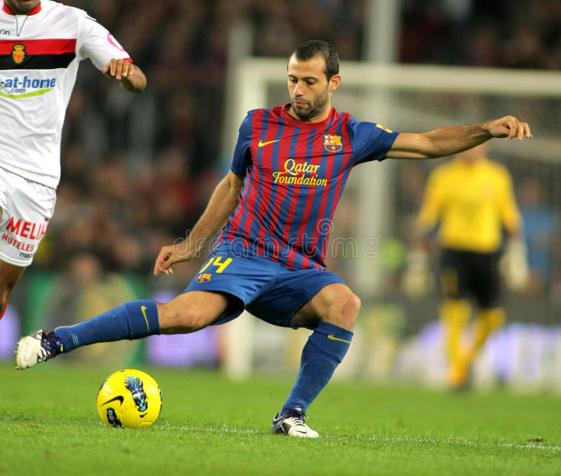 Javier Mascherano de FC Barcelone image stock