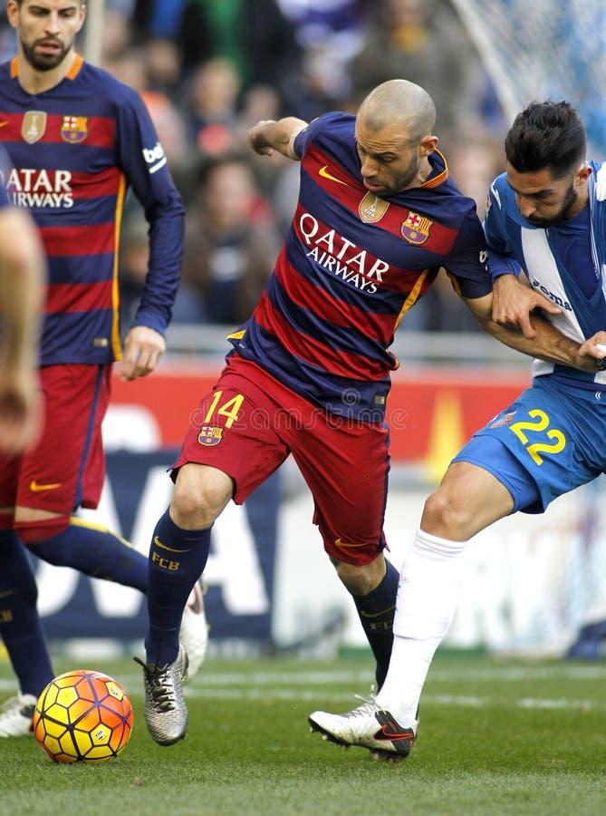 Javier Mascherano de FC Barcelone images stock