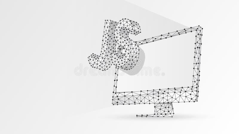 Jawa pisma cyfrowania języka znak na białym komputerowym monitorze Przyrz?d, programowanie, rozwija poj?cie Abstrakt, cyfrowy royalty ilustracja