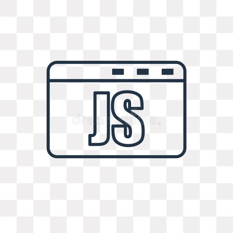 Jawa pisma wektorowa ikona odizolowywająca na przejrzystym tle, linia ilustracja wektor