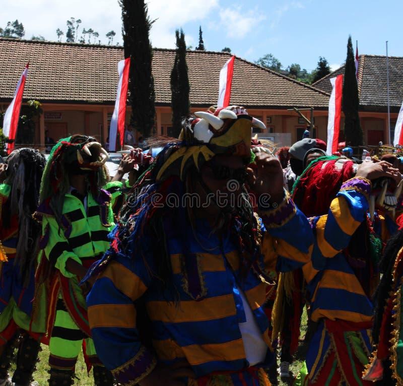 Jawajski kultury reog pojawienie zdjęcie royalty free