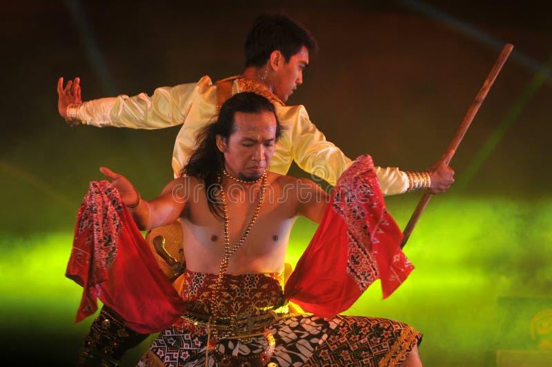 Jawajski Tradycyjny taniec fotografia royalty free