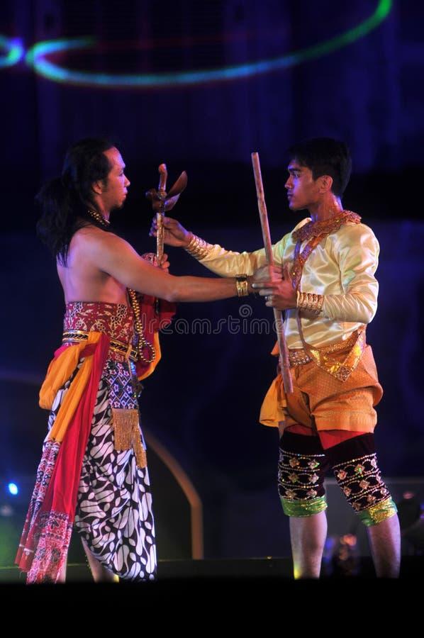 Jawajski Tradycyjny taniec zdjęcie stock