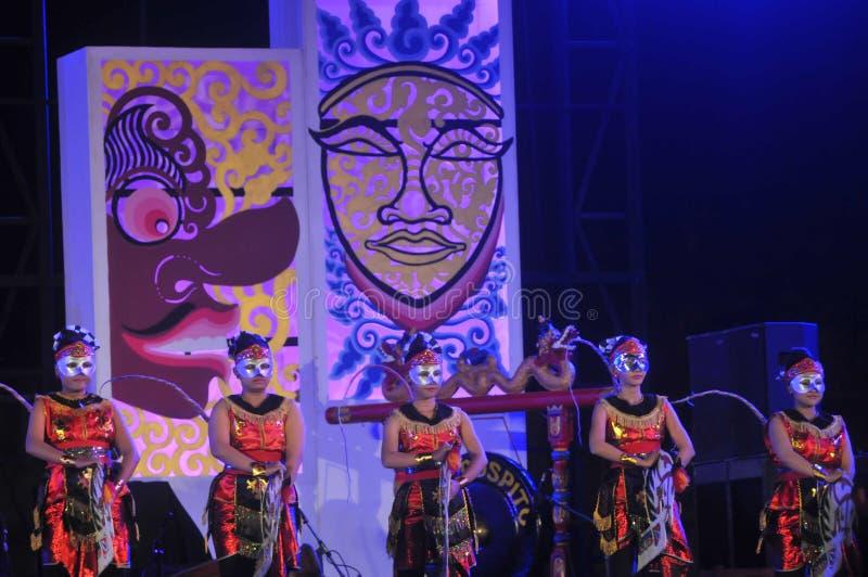 Jawajski Tradycyjny taniec obraz royalty free