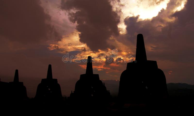 Jawatengah Indonesia del tample di Borobudur immagine stock