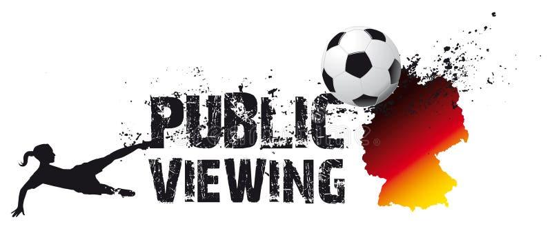 jawne s piłki nożnej viewing kobiety ilustracja wektor