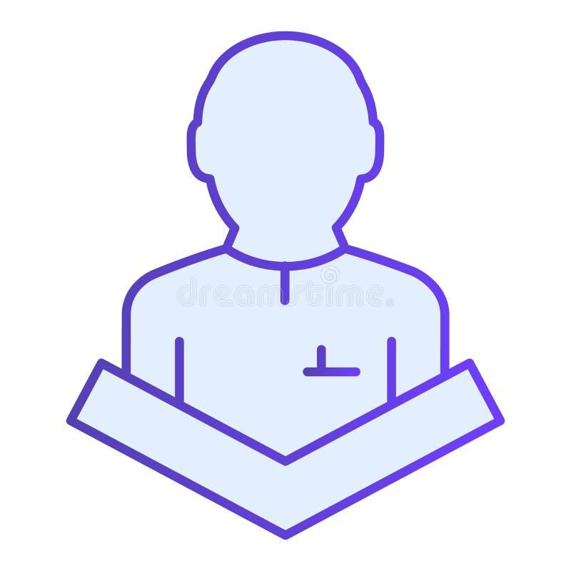 Jawnego mówienia mieszkania ikona Wykładowca na trybun błękitnych ikonach w modnym mieszkanie stylu Mowa gradientu stylu projekt, ilustracja wektor