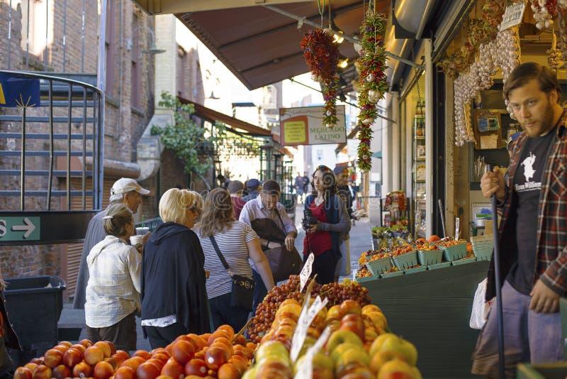 Jawnego rynku centrum przy szczupaka miejscem fotografia royalty free
