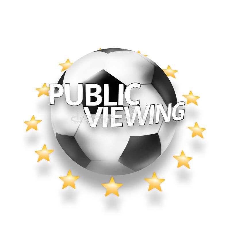 Jawnego viewing piłki nożnej futbolowa piłka royalty ilustracja