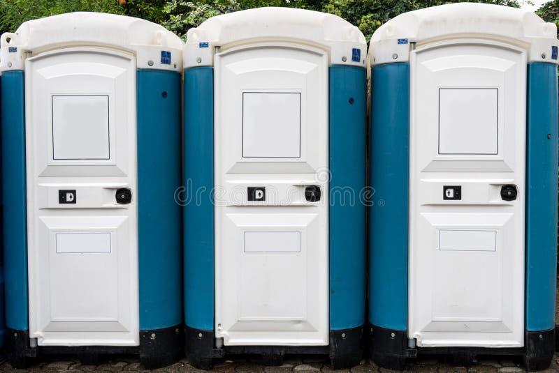 Jawni toilettes outside obrazy stock