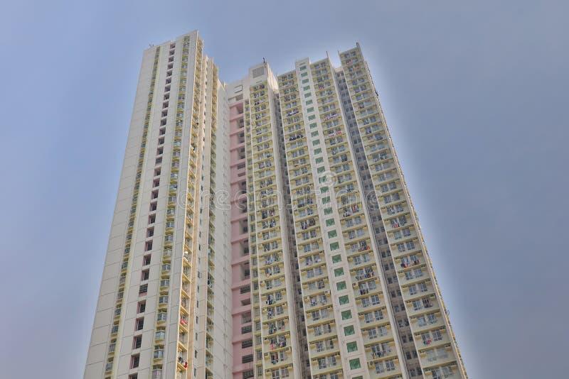 jawny dom przy Mei Dzwonił nieruchomość hk fotografia stock