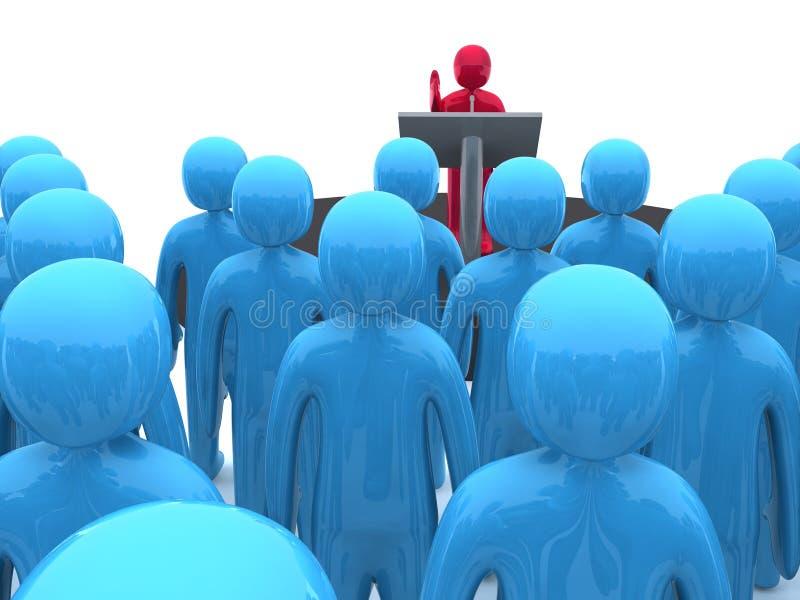 jawny mówca ilustracji