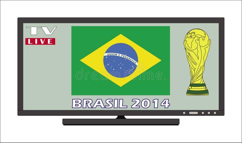 Jawny przegląda Brazil 2014 ilustracja wektor